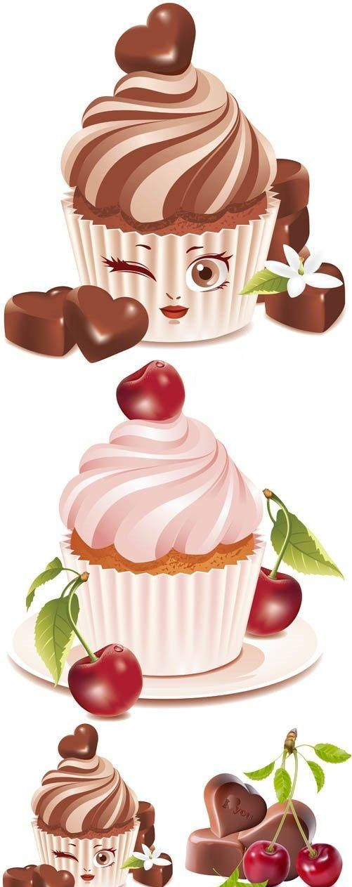 Delicious desserts vector free for download at 4vector.com ...