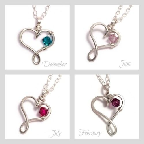 September Birthstone Heart Necklace Pendant Necklace Heart Necklace