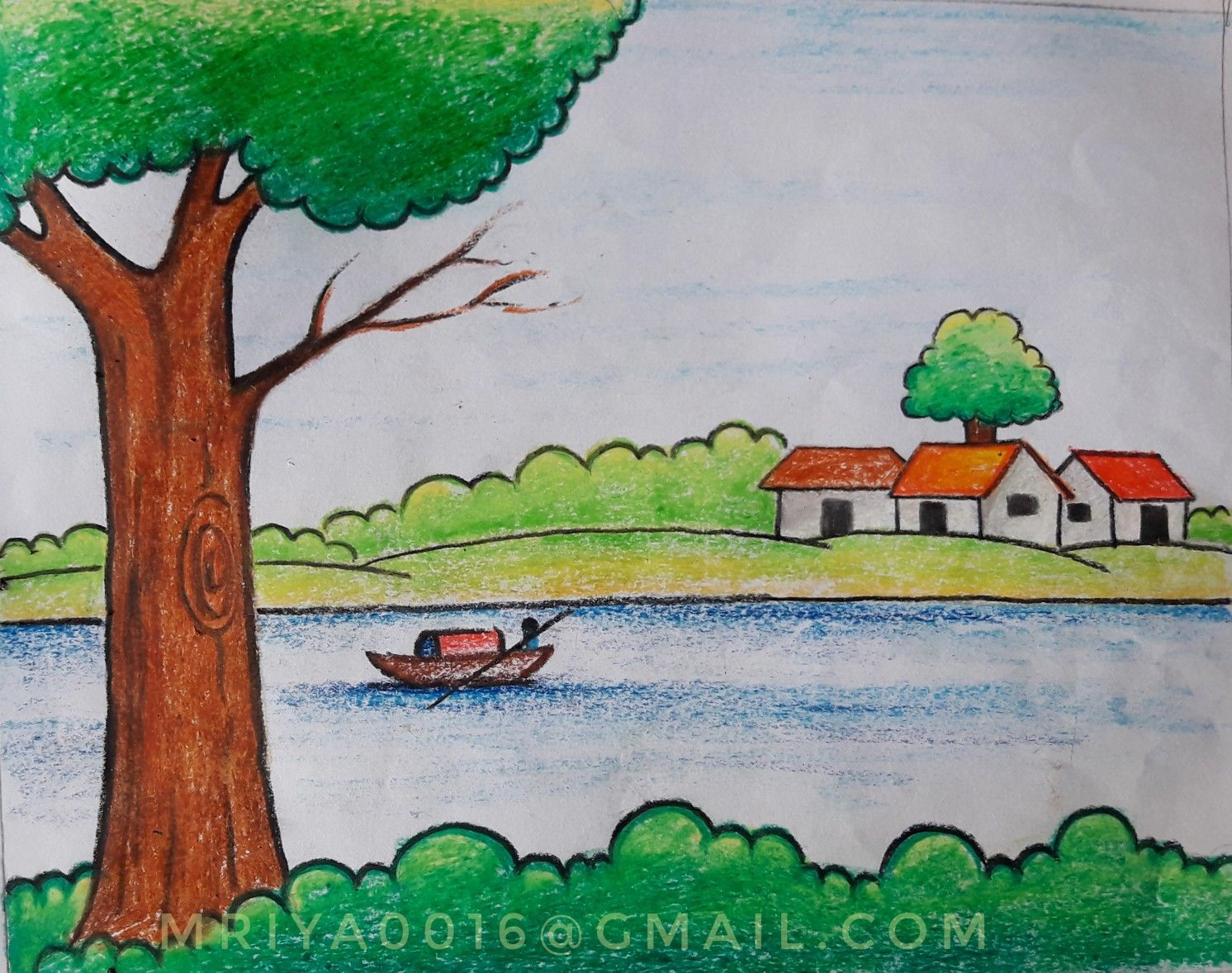 Scenery Painting In 2020 Art Drawings For Kids Scenery Drawing