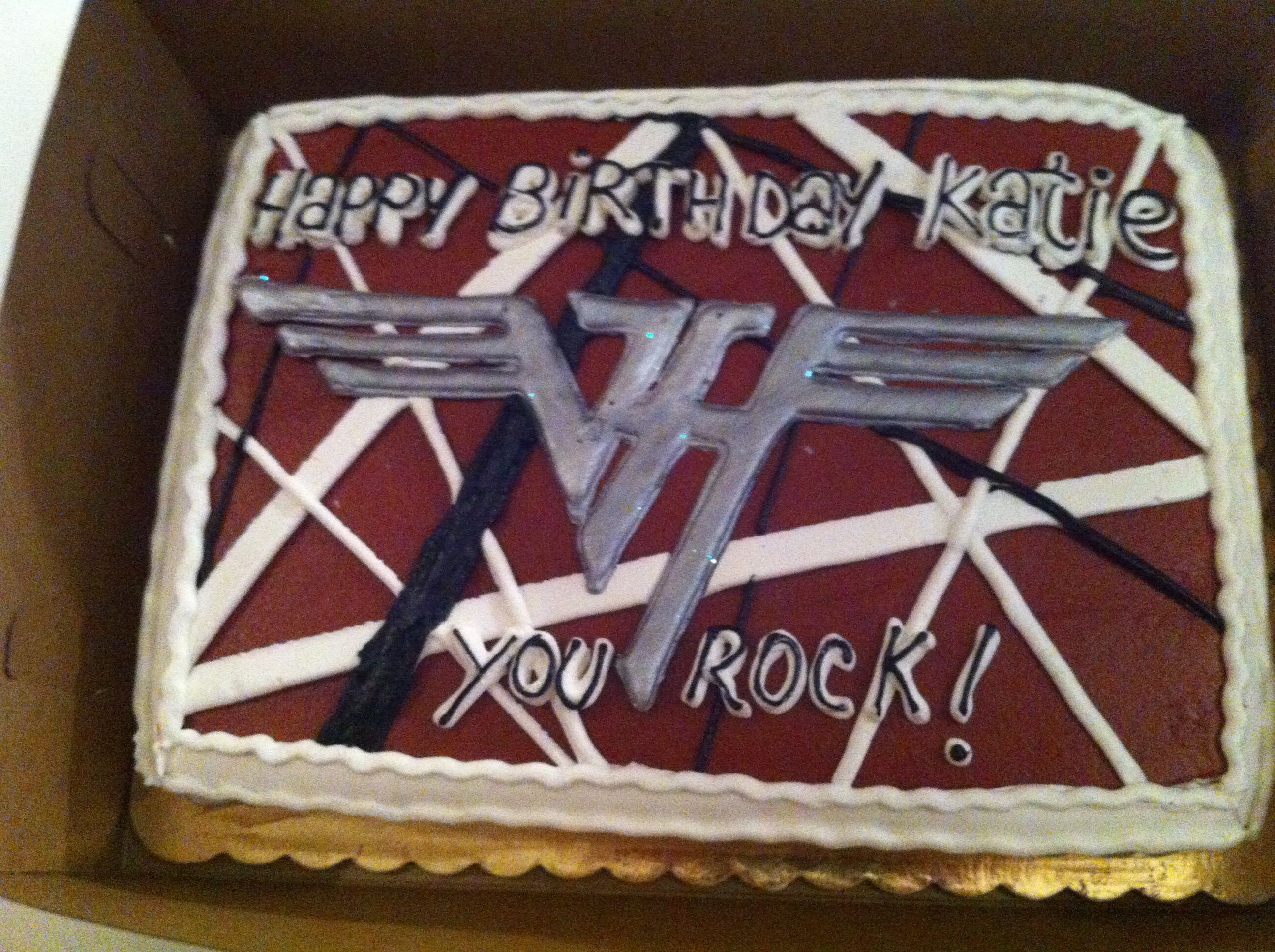My Van Halen Birthday Cake From 2012 How Sweet Of My Husband He S The Biggest Smiths Fan And Has No Idea About Anyth Cake Designs Birthday Birthday Van Halen