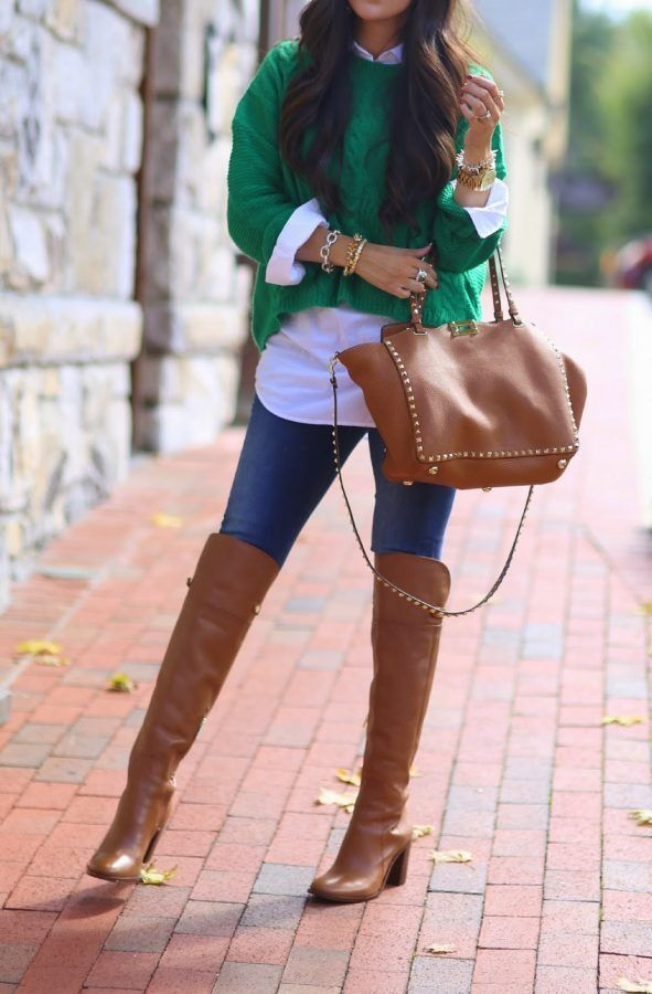 15 Style Ideas How To Wear Over The Knee Boots For Early Fal- 15 Style Ideas How…