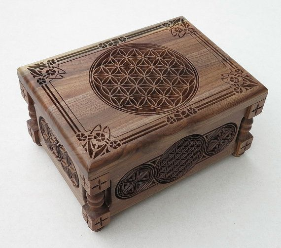 Flower of Life Small Jewelry Box Gift Box Handcrafted