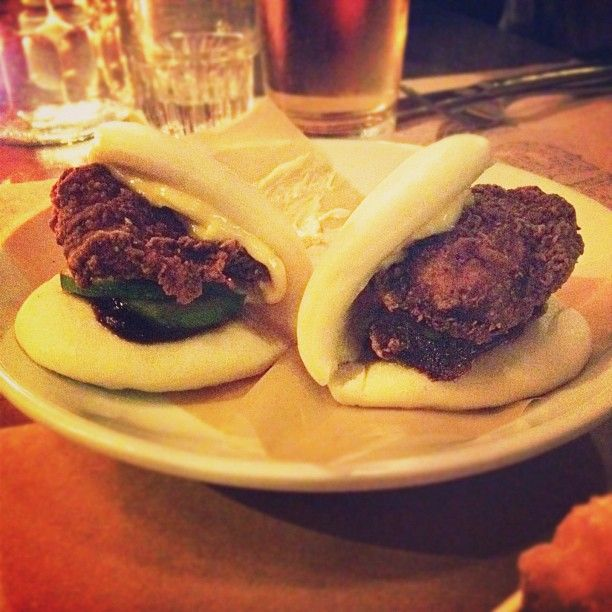 ABV in New York City, NY Fried Chicken Pork Buns Instagram photo by @Kelly Purkey via ink361.com