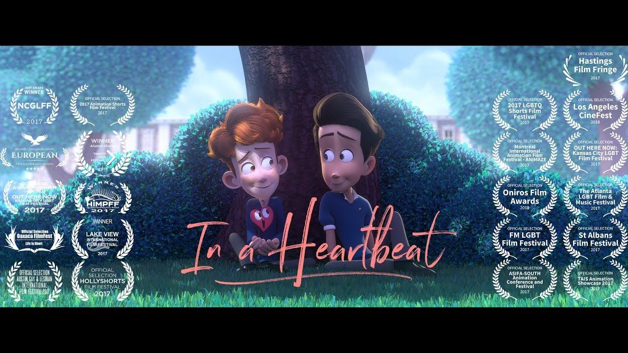 """In a Heartbeat - Animated Short Film  """"In a Heartbeat"""" - Animated Short Film by Beth David and Esteban Bravo  A closeted boy runs the risk of being outed by his own heart after it pops out of his chest to chase down the boy of his dreams.  contact.inaheartbeat@gmail.com Facebook Page - https://www.facebook.com/inaheartbeat... Official Tumblr Page - https://inaheartbeat-film.tumblr.com/ IMDB - http://www.imdb.com/title/tt6969946/?...  Produced at Ringling College of Art and Design by  Beth…"""