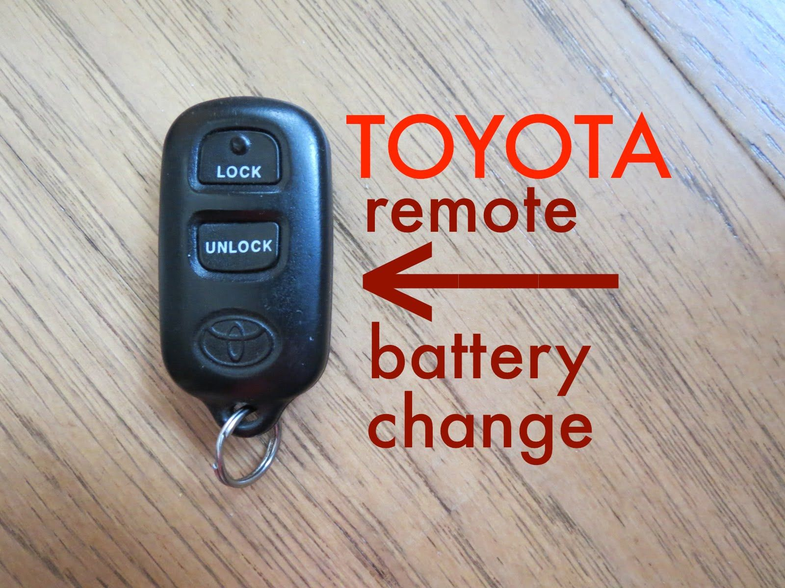 How To Toyota Key Fob Remote Keyless Battery Change Replace