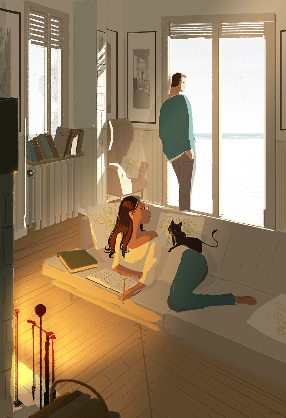 Home by the North Sea by Pascal Campion