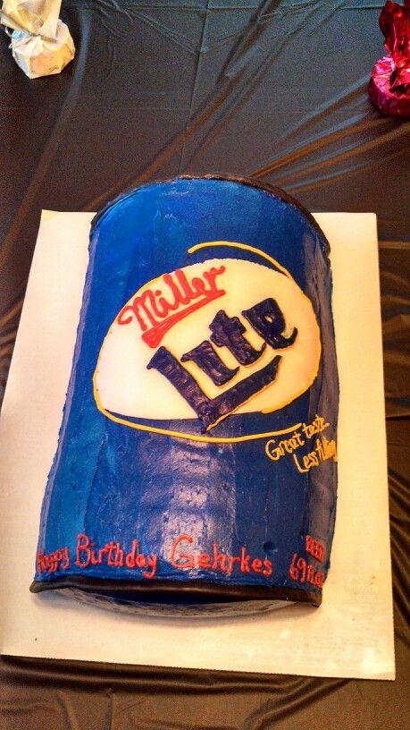 Miller Lite Birthday Cake Cakes Pinterest Miller Lite