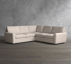 Pearce Upholstered 3 Piece L Shaped Sectional Sectional