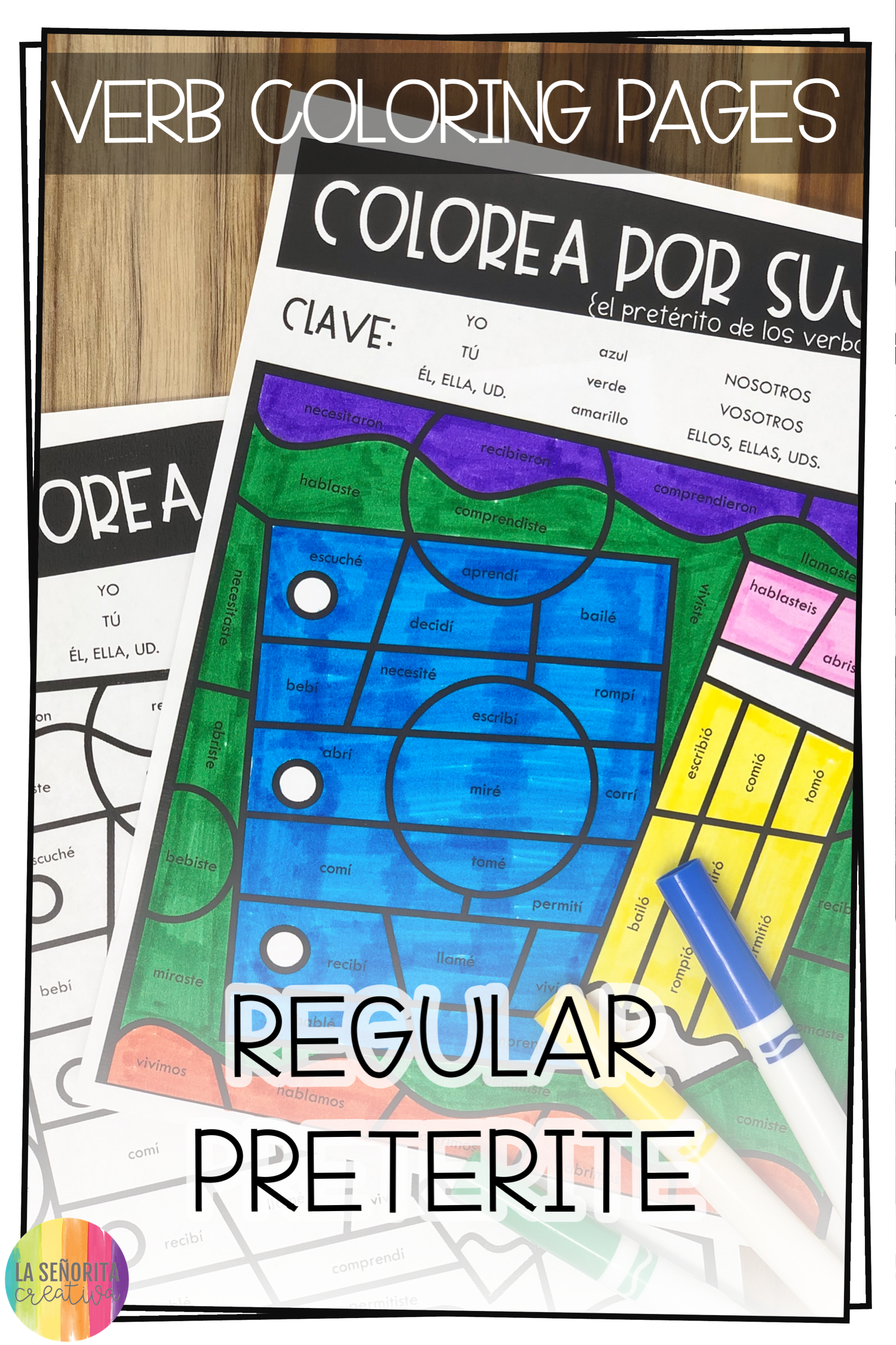 Love This Fun Way To Introduce Practice Or Review Verb Conjugations For The Regular Preterite Tense In Spanish Preterite Tense Spanish Verbs Color Activities [ 2249 x 1499 Pixel ]