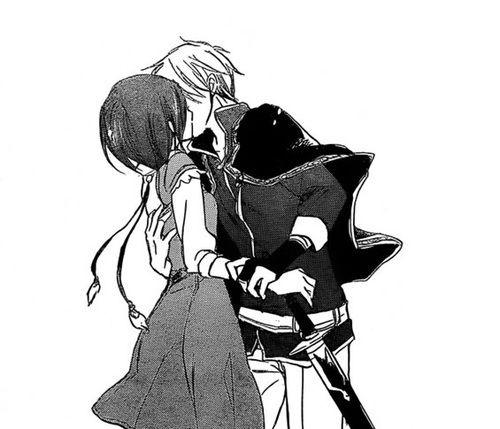 couple anim noir et blanc fille baiser amour manga tumblr shirayuki pinterest amour. Black Bedroom Furniture Sets. Home Design Ideas