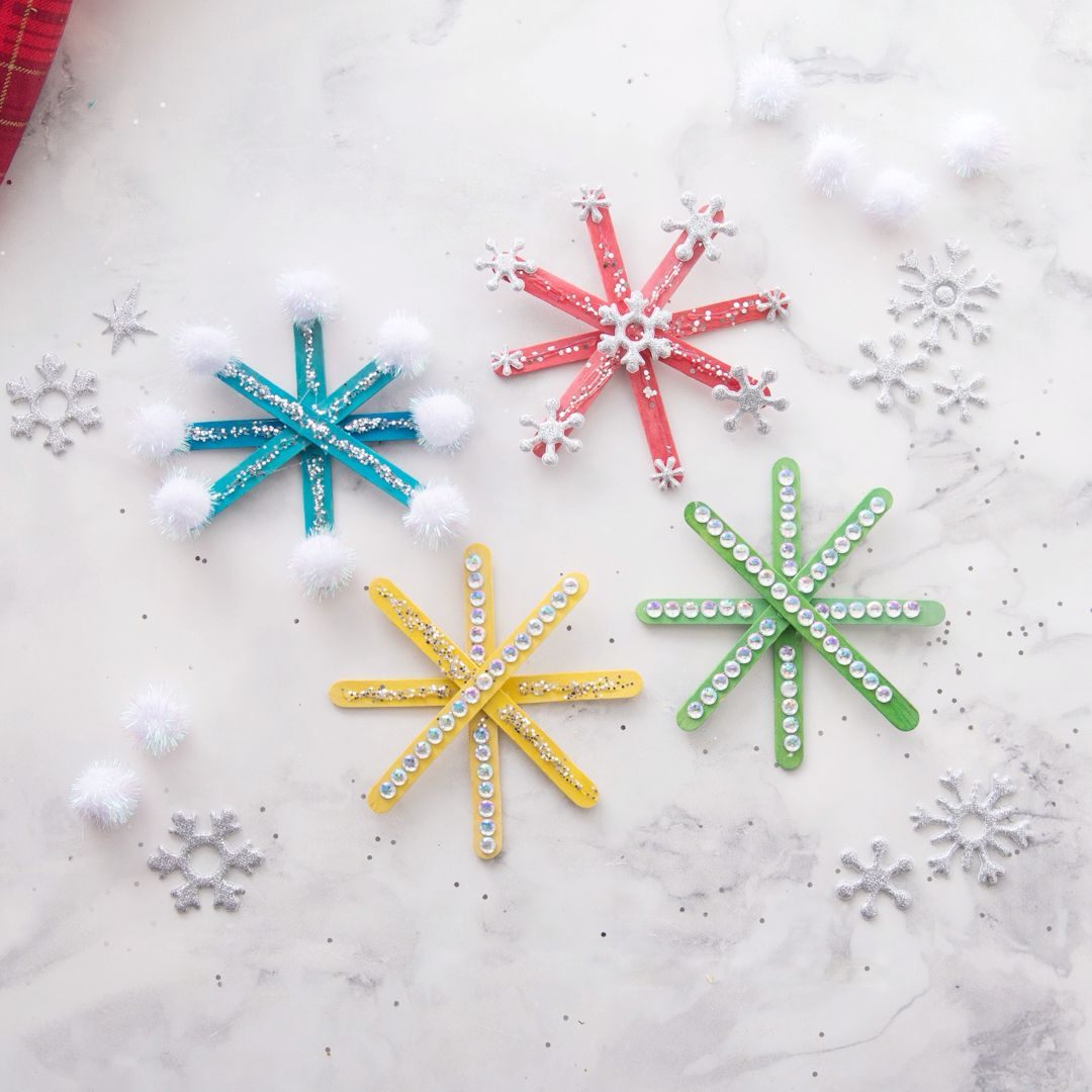 Photo of POPSICLE STICK SNOWFLAKES