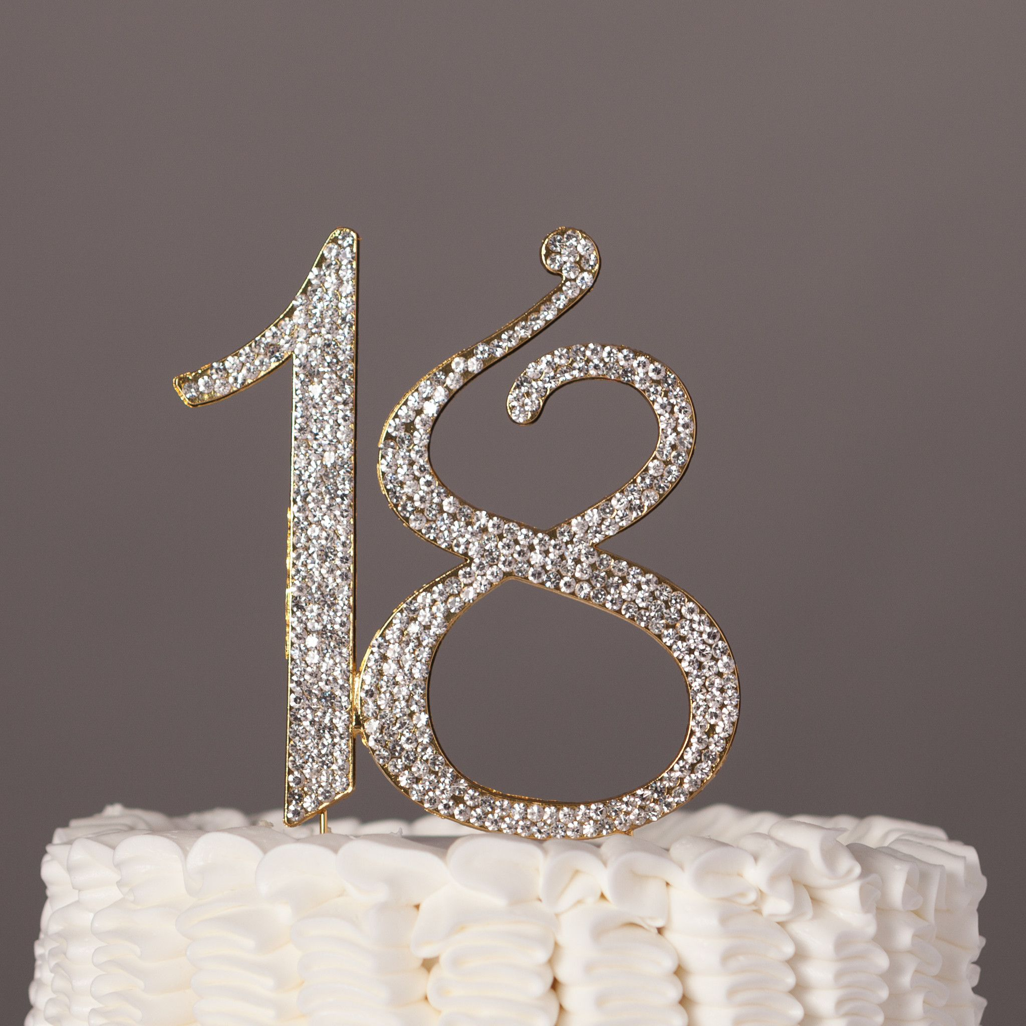 18 Cake Topper Gold Gold number Decoration and Birthdays