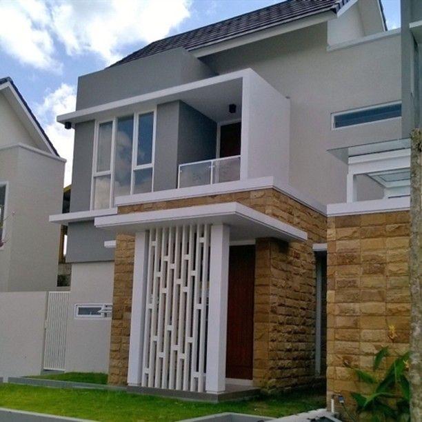 Model Teras Rumah Joglo Sederhana  model teras minimalis dengan batu alam beserta model tiang