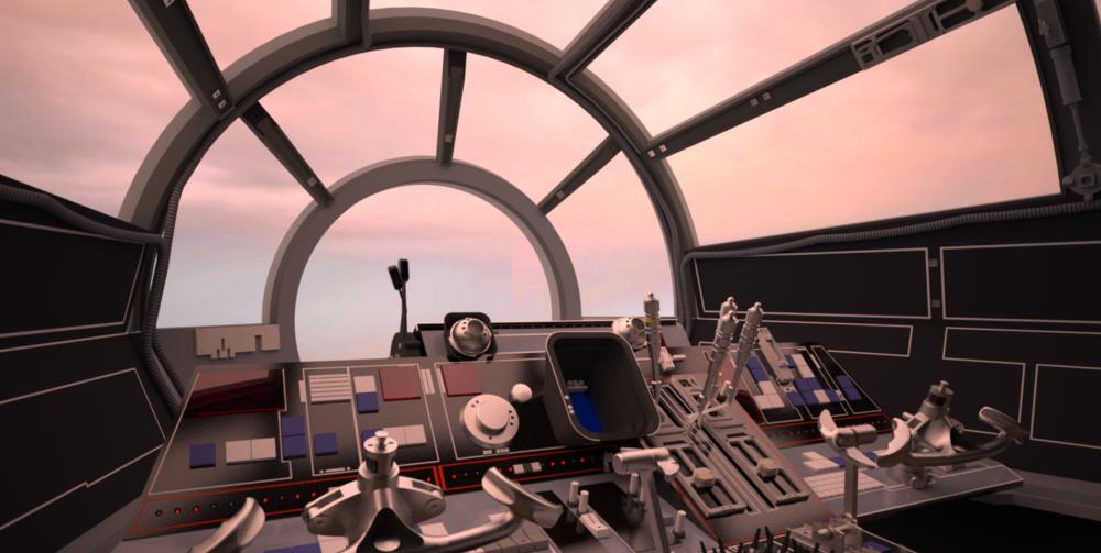 Mf Cockpit Millennium Falcon Millennium Star Wars