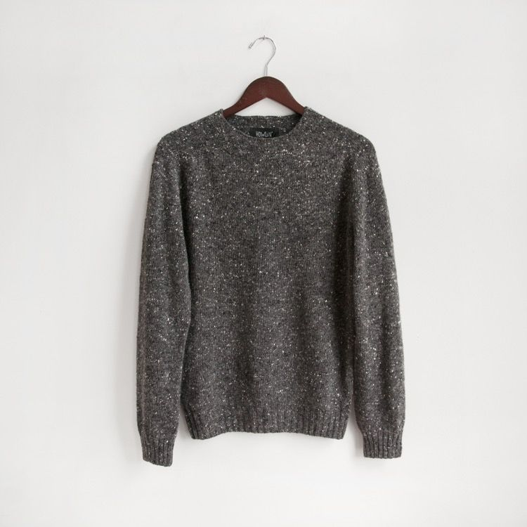 HOWLIN' BY MORRISON  Terry Knit Crew Neck in Charcoal