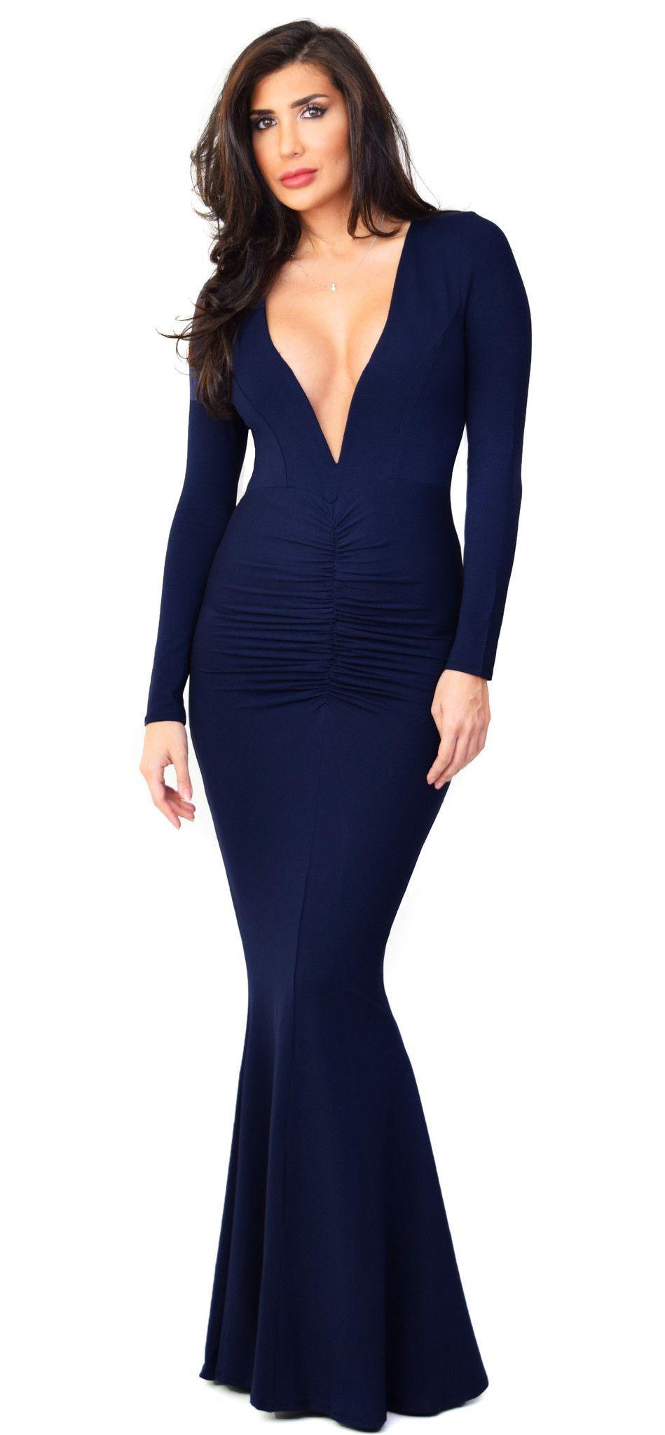 Anastasia Navy Maxi Dress
