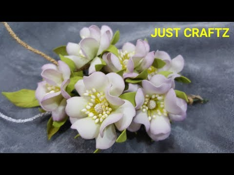 Foamerian Foamiran Flowers Youtube Flower Making Foam Flowers Paper Flowers