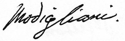 Amadeo Modigliani Modigliani Amedeo Modigliani Signature Tattoos
