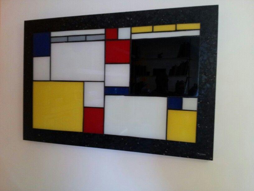 Cuadro elaborado con la técnica Tifannys . 90 x60 cm