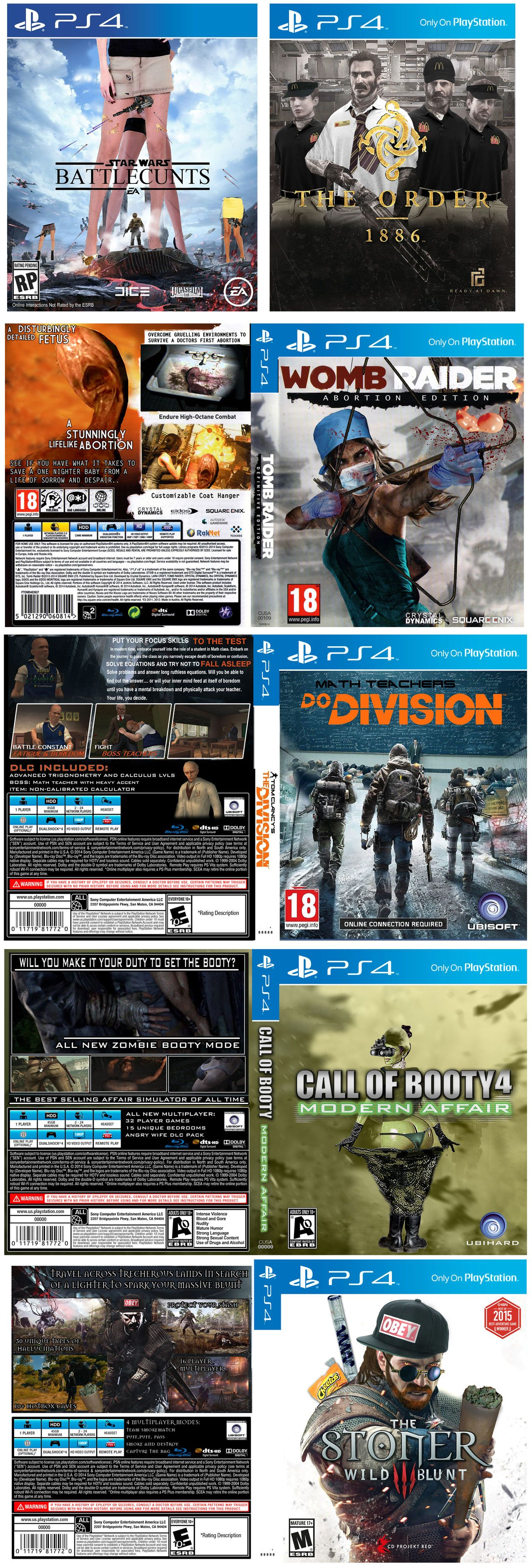 Some Fake Game Covers I Made Video Games Funny Funny Games Video Game Memes