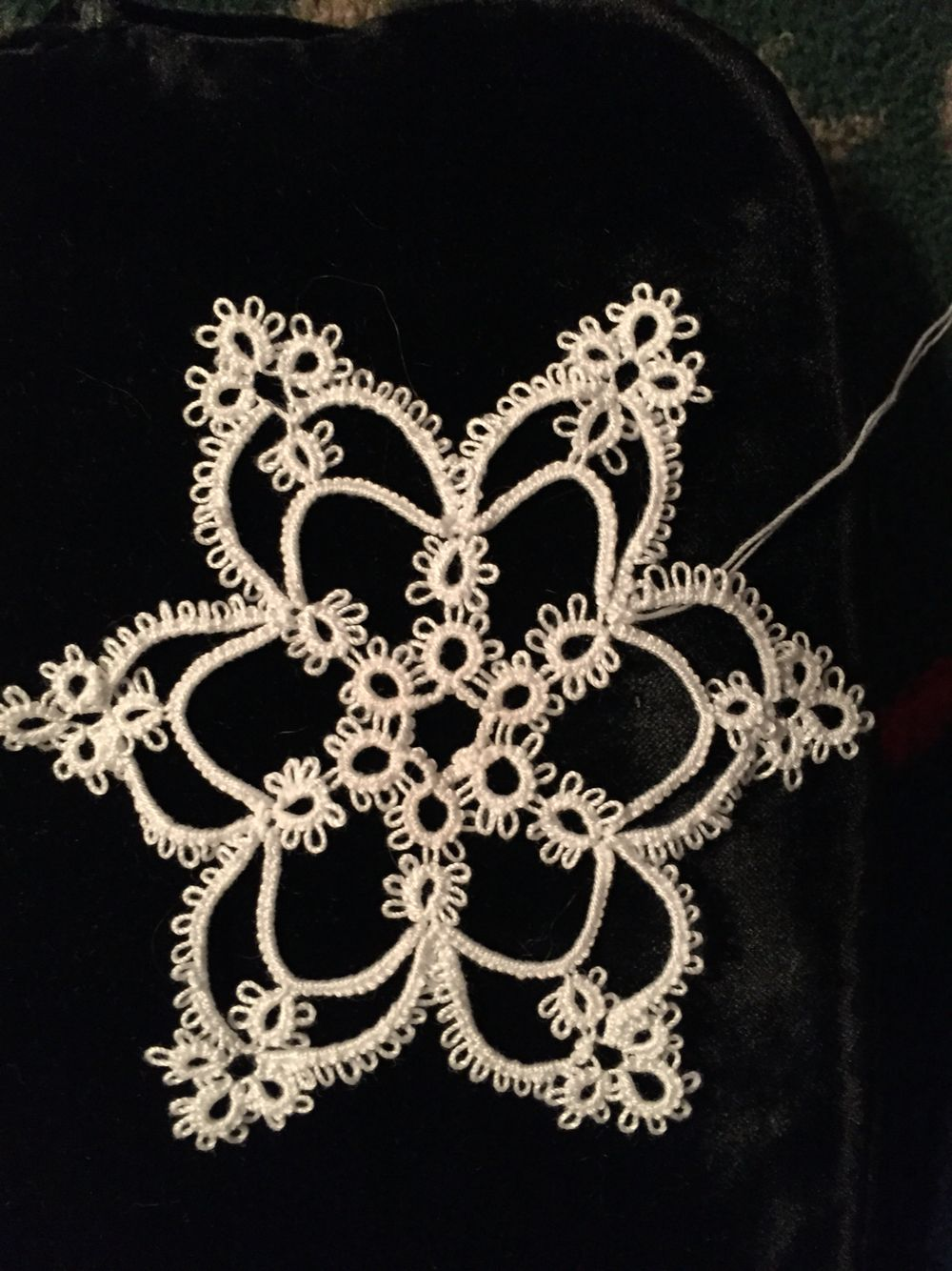My first snowflake.
