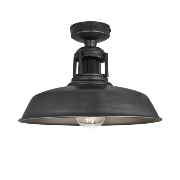 Old Factory Pendant 12 Inch Pewter In 2019: Barn Slotted Flush Mount