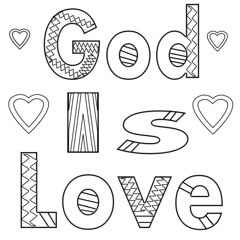 God Is Love Coloring Pages Love Coloring Pages Bible Verse