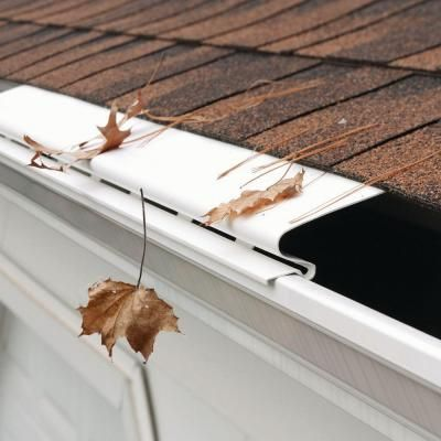 Amerimax Home Products 4 Ft White Solid Gutter Cover 85320 The Home Depot Gutter Gutters Diy Gutters