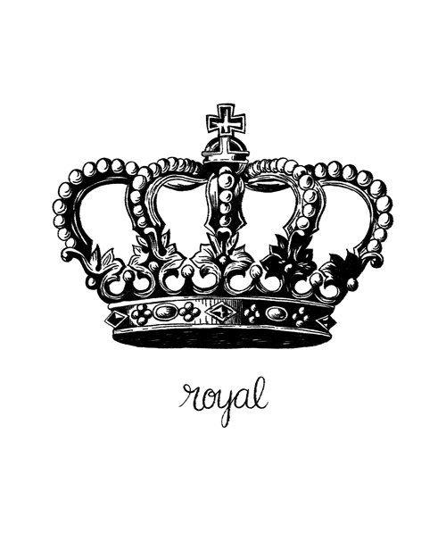 Printable Art Royal Crown Royalty Printable Queen King