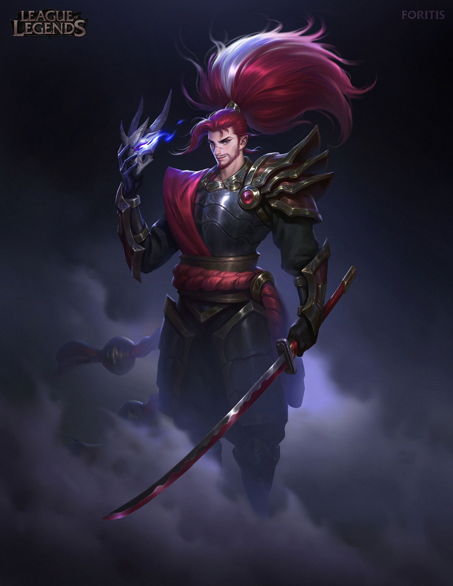 Download League Of Legends Blood Moon Yasuo Wallpaper