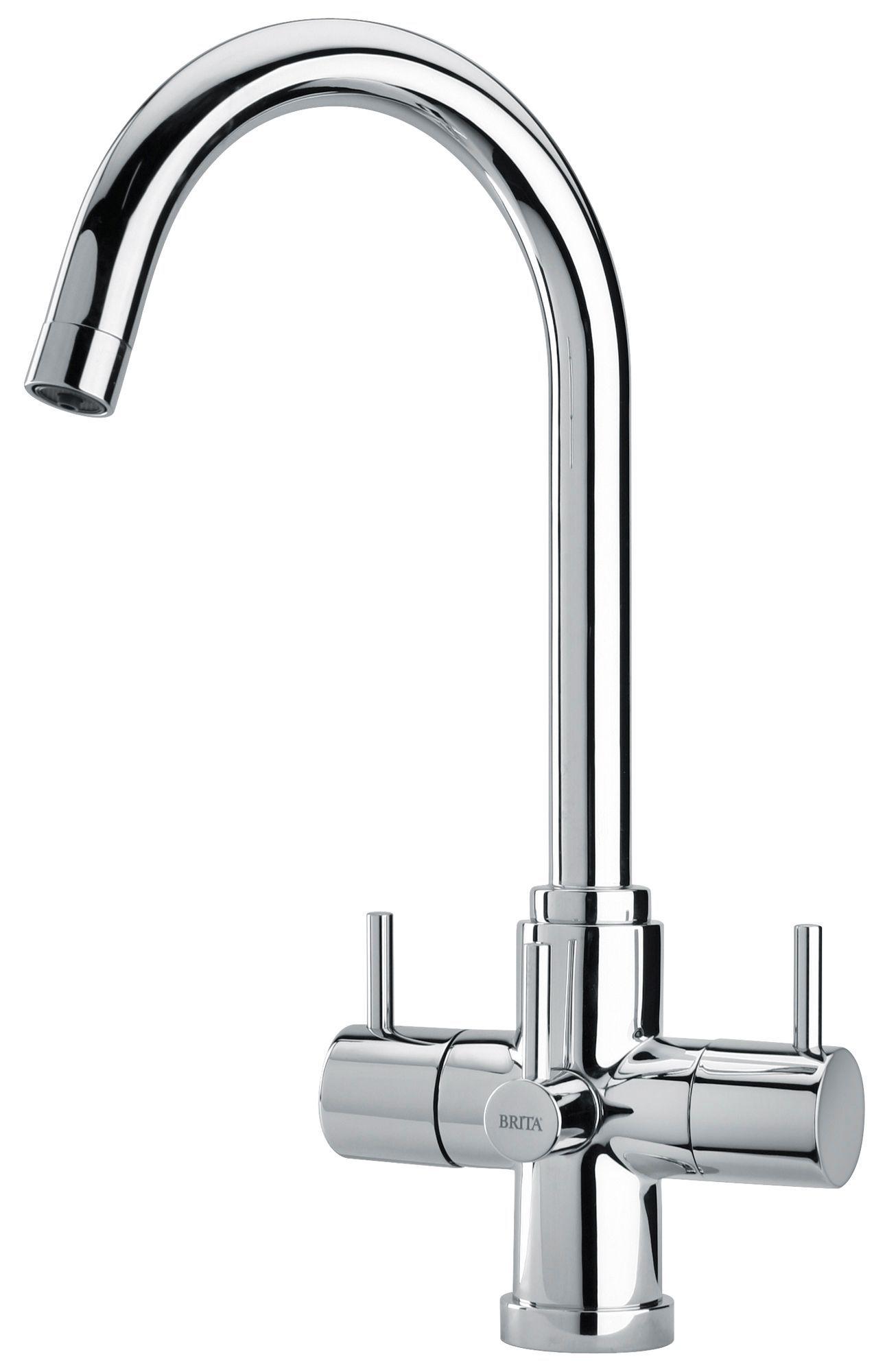 Brita torlan chrome effect water filter tap departments diy at brita torlan kitchen tap chrome effect with cartridge 8000177164965 at bq currently half price workwithnaturefo