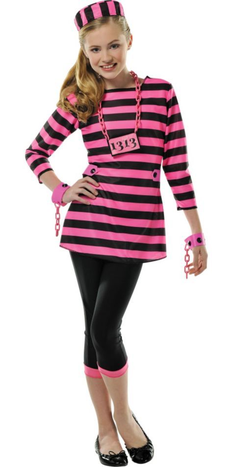 Girls Miss Behaved Prisoner Costume - Party City  sc 1 st  Pinterest & Girls Miss Behaved Prisoner Costume - Party City | Halloween 2015 ...