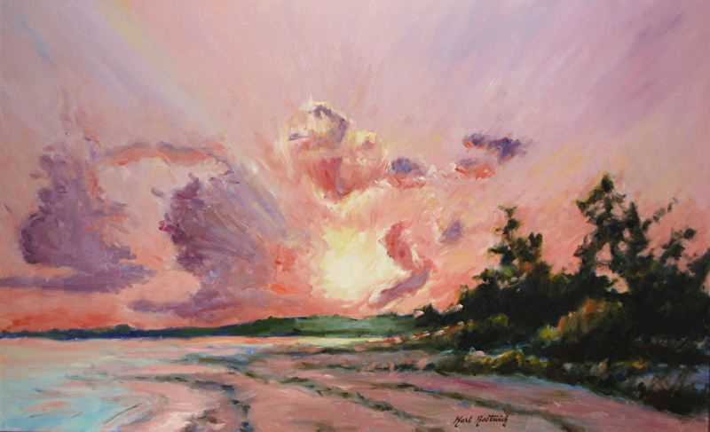 Sanibel Island Sunset By Karl Bostwick Oil 30 X 48 With Images