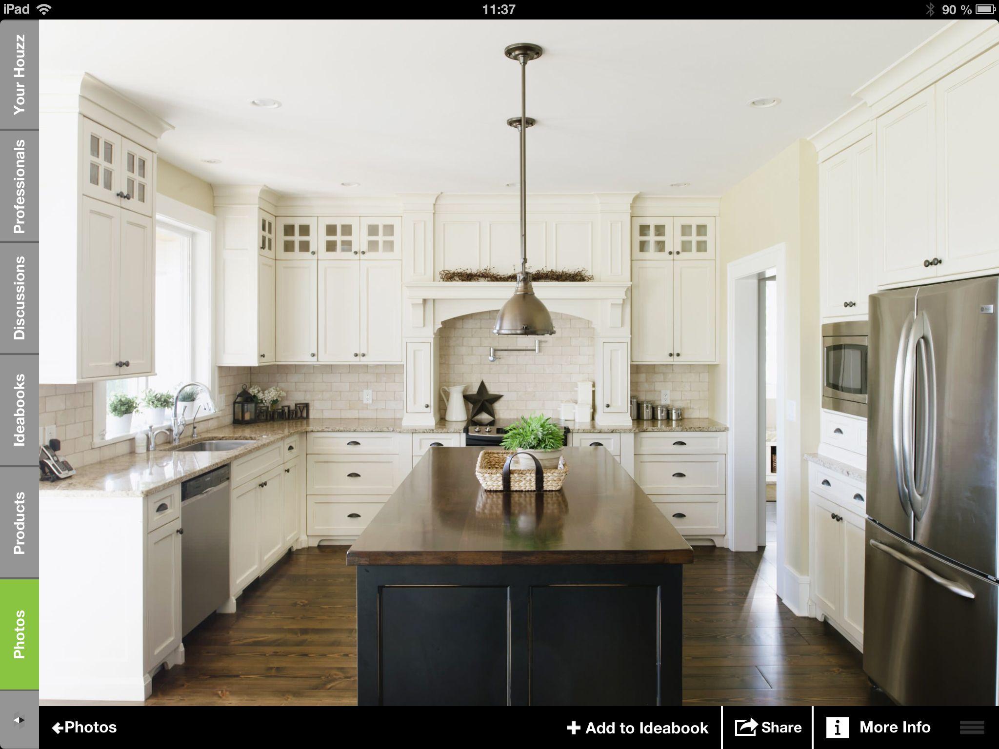 Cuisine deux couleurs | Pour ma maison!! | Pinterest | Main street