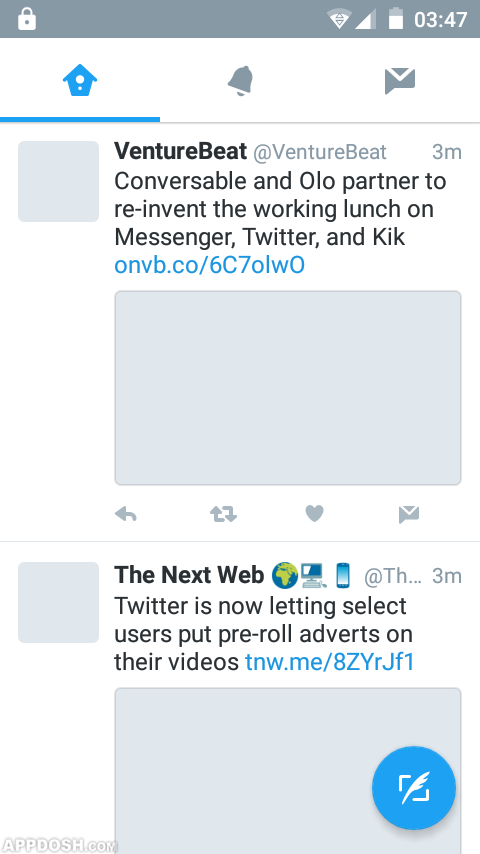 Twitter app has this common issue of not displaying tweet
