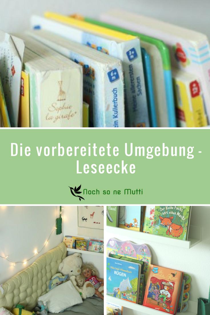 Leseecke als vorbereitete Umgebung #montessorimontag | Montessori ...