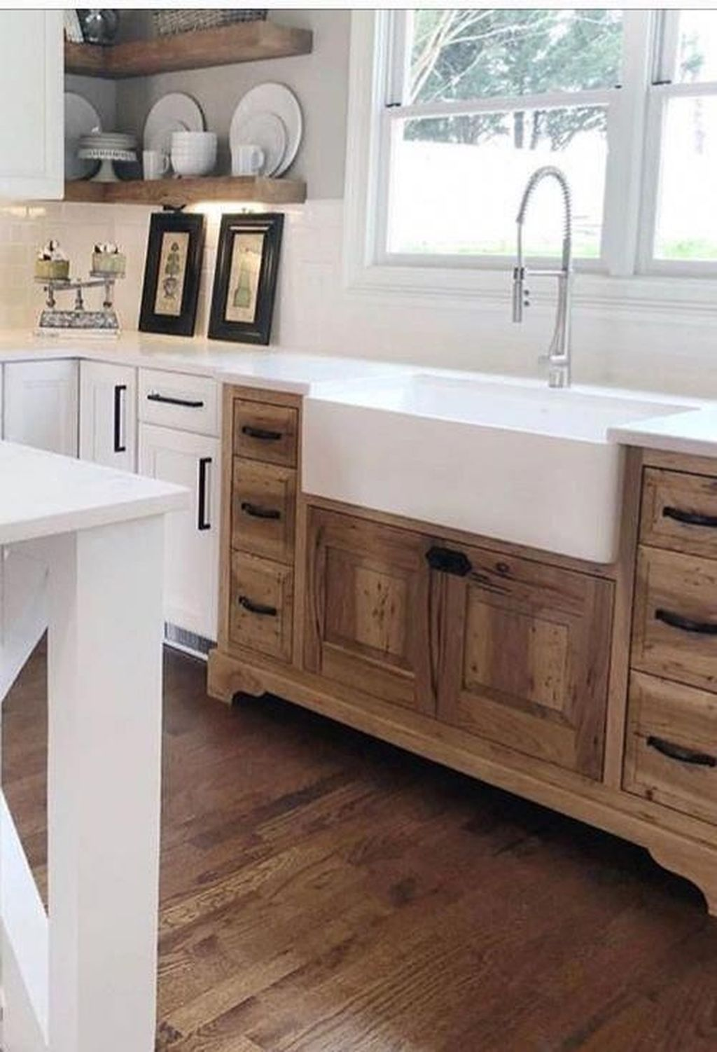 101 Rustic Farmhouse Kitchen Cabinets Design Ideas In 2020 Farmhouse Kitchen Cabinets Kitchen Cabinet Design Home Kitchens