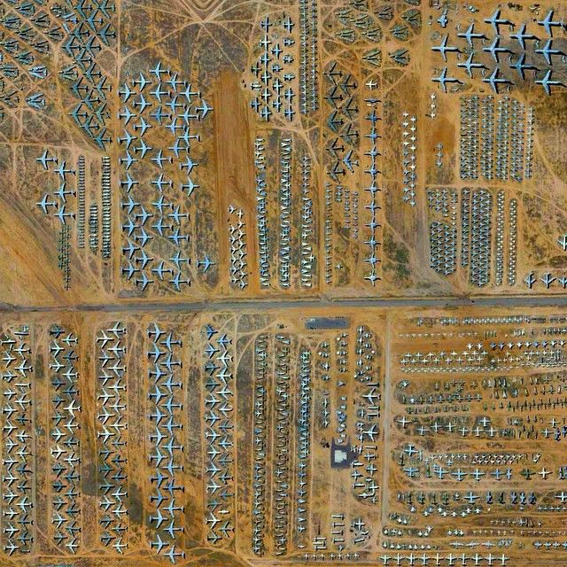 Davis Monthan Air Force Base In Tucson Arizona Is Home To The