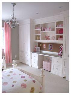 Custom Built Desk And Closet Combine With The In Dresser Idea Minus