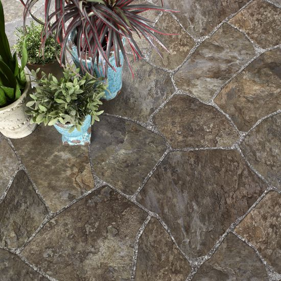 Cobblestone Linoleum Flooring River Stone Hi Def Resilient Vinyl Sample Want Something Like This In My Kitchen And Bathroom