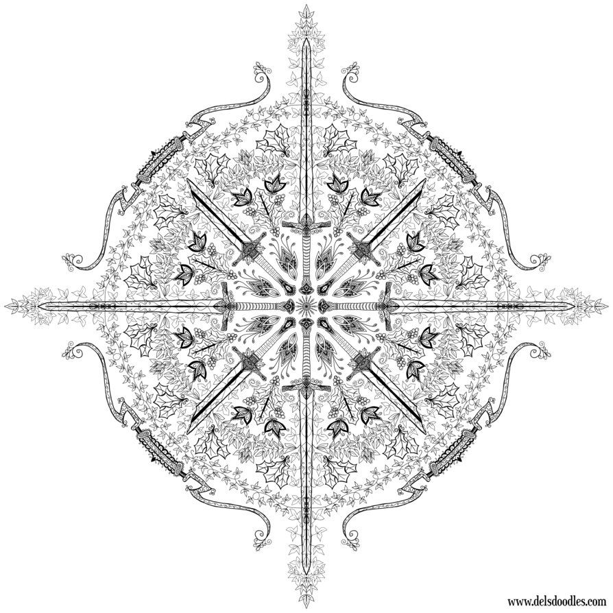 shadow of mordor snowflake by welshpixie on deviantart coloring
