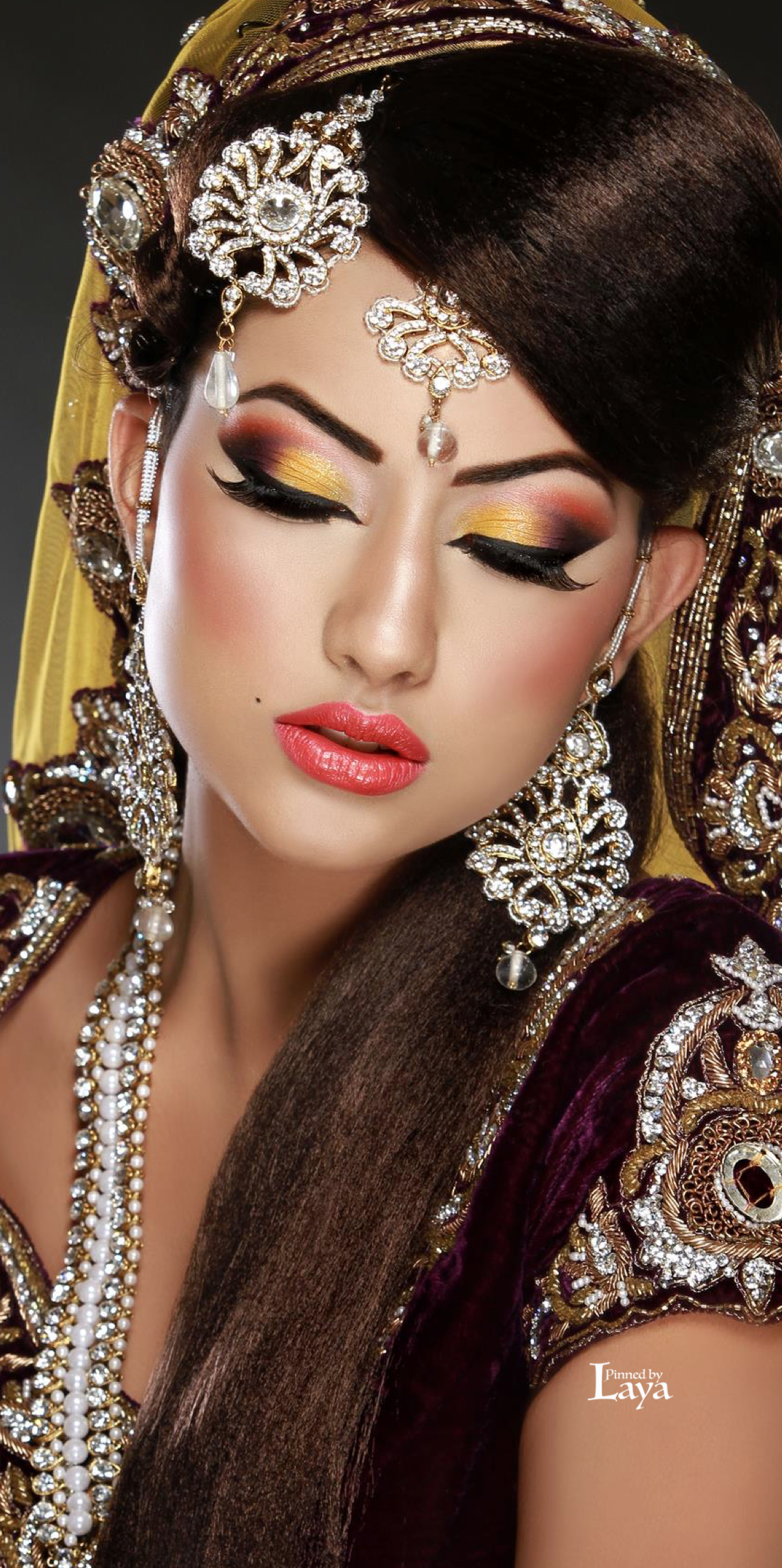 ♔LAYA♔INDIAN BRIDE♔ Pakistani bridal makeup, Asian