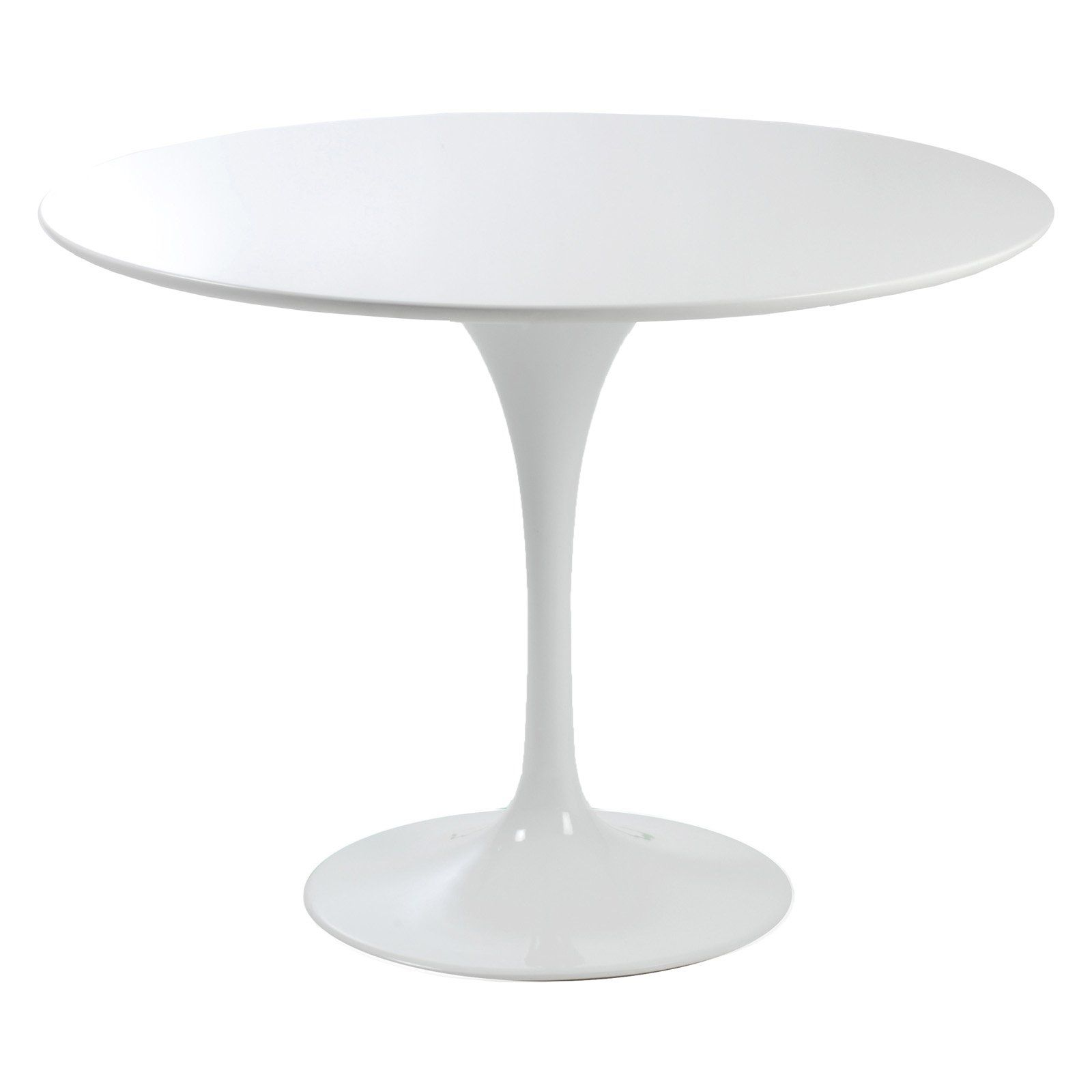 Euro Style Astrid High Gloss White Round Dining Table $350.00 ...