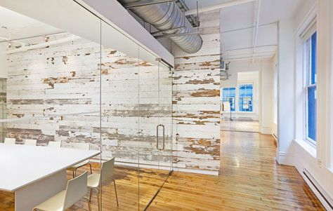 Reclaimed Barnwood Interior Walls   Love This Application