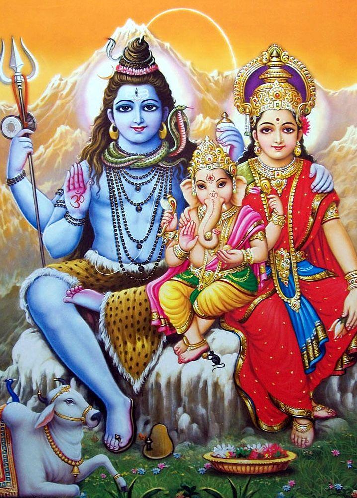 Shiv parivar shiva in 2019 lord shiva family shiva shiva art - Images of hindu gods and goddesses ...