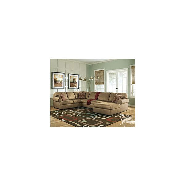 Signature Design by Ashley Aveline 3-Piece Sectional found on Polyvore
