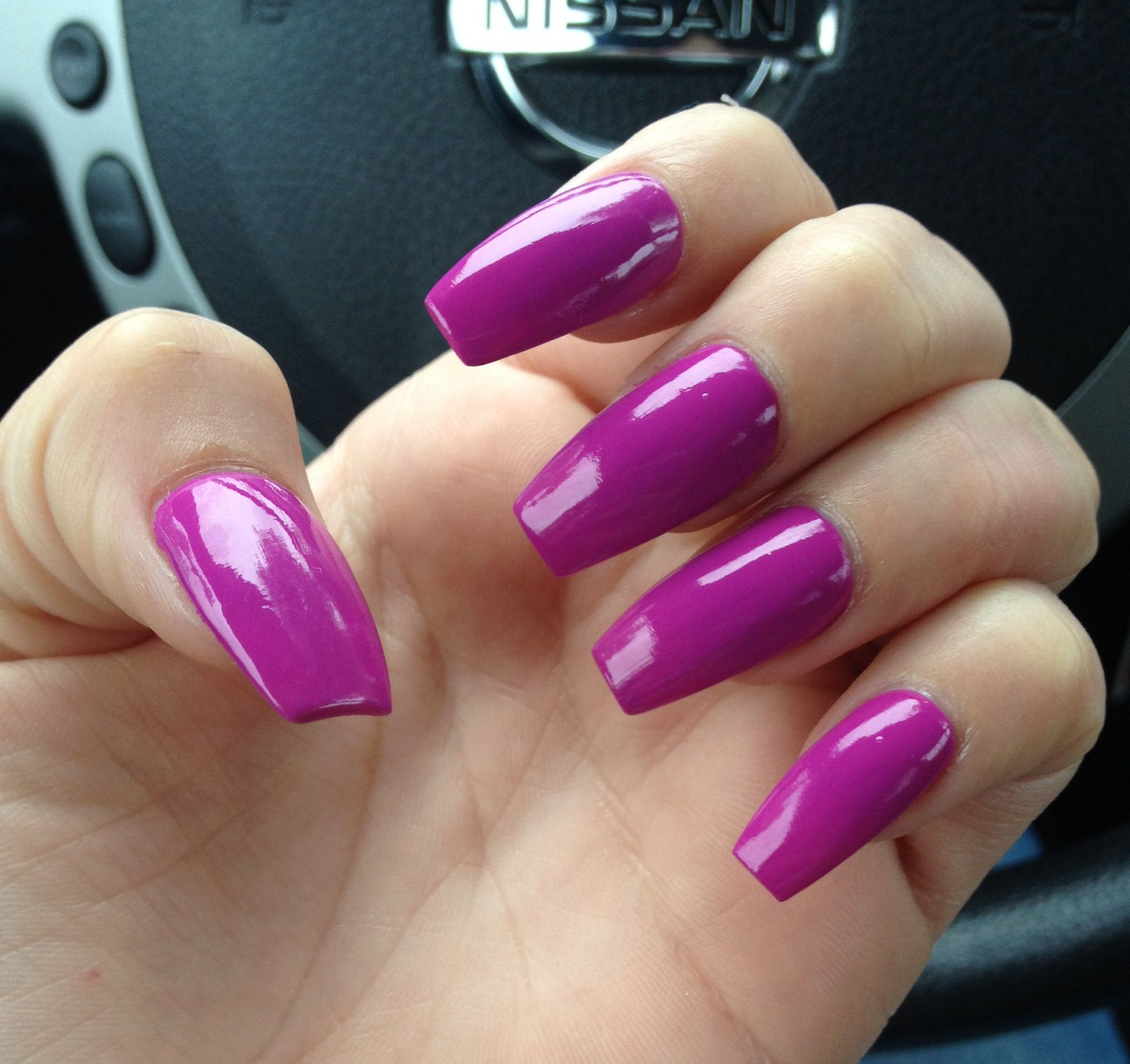 I personally like my nails longer, as they are here. this dark ...