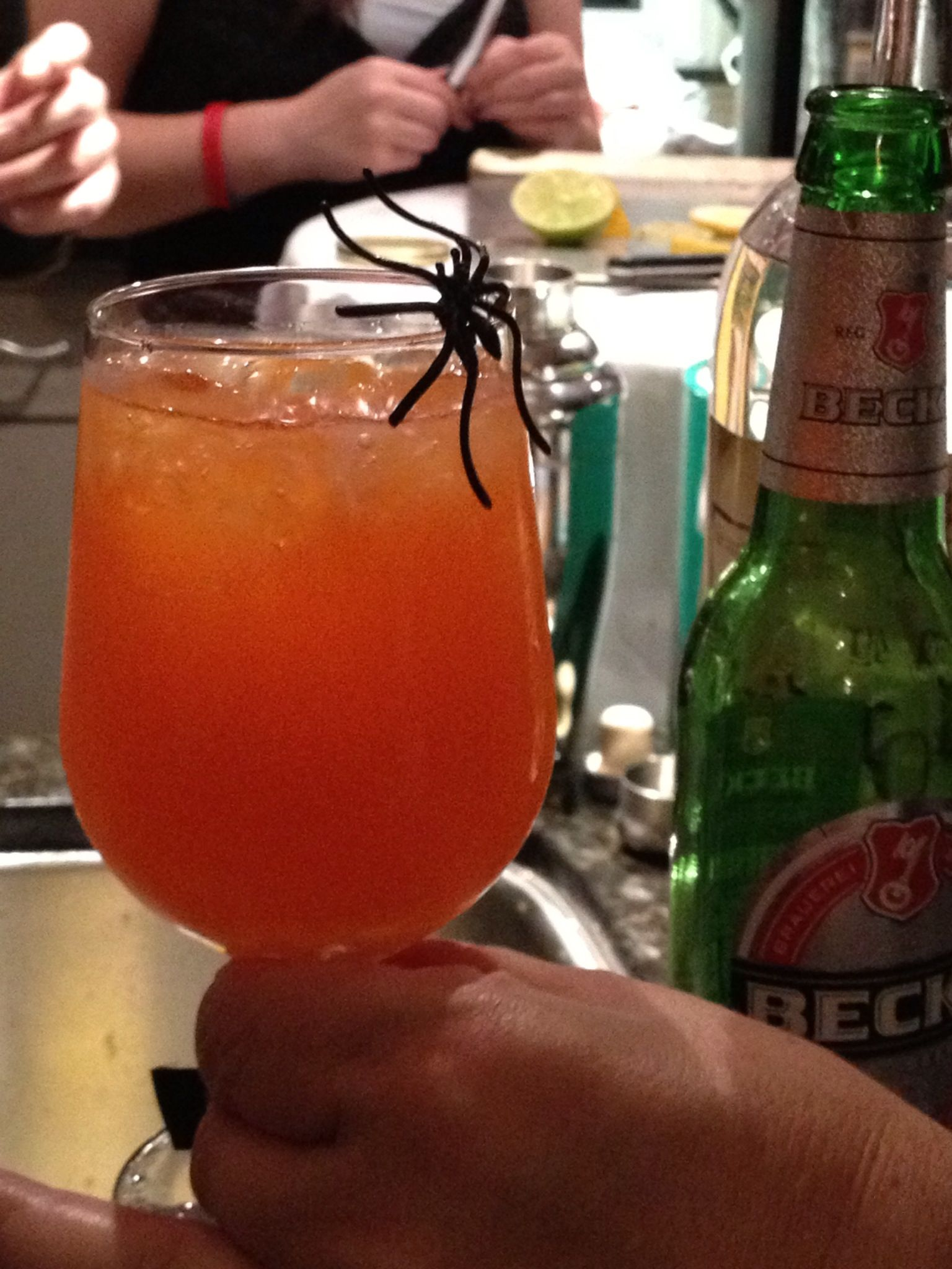 The Spider Or G Or G Liquor Absolute Citron Citrus T Sec San Pelligrino Tangerine Halloween Cocktails Pelligrino Citrus