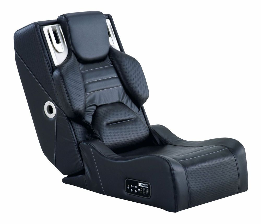 Comfortable Gaming Lounge Chair Ottoman W Wireless Audio Video