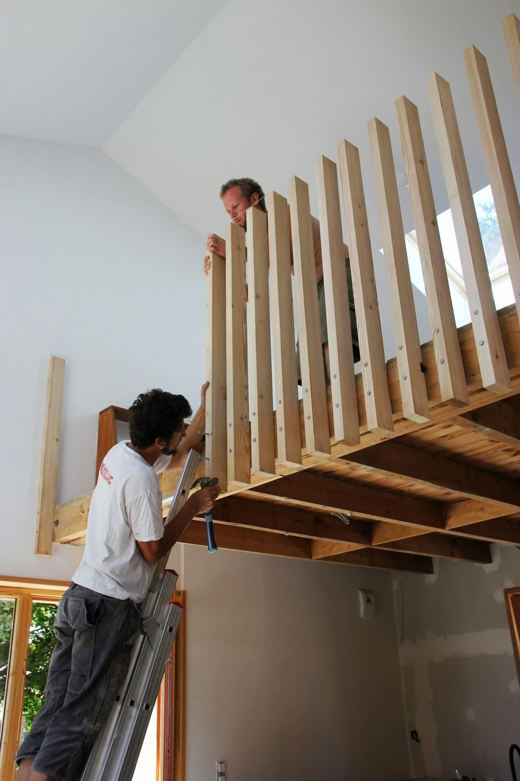 Week end garde corps en bois cr ation en bois - Escalier en bois design par archmongers ...